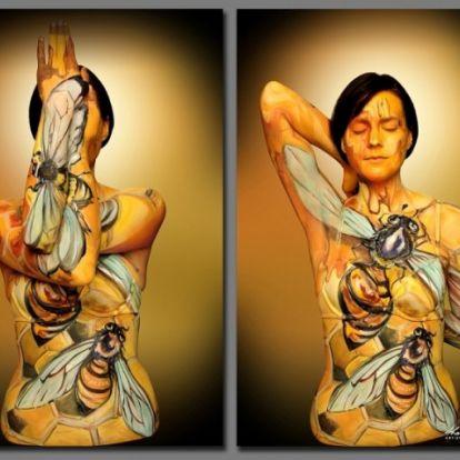 Állatokká változtatta modelljeit a testfestő művész