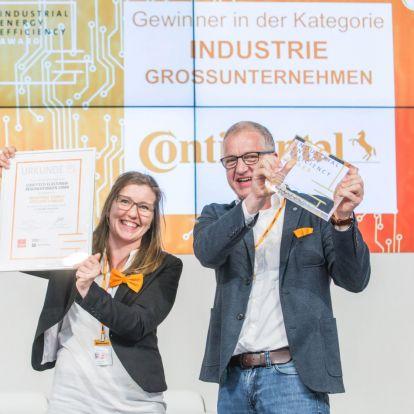 A Continental nyerte a Hannover Messe-n az Ipari Energiahatékonysági Díjat