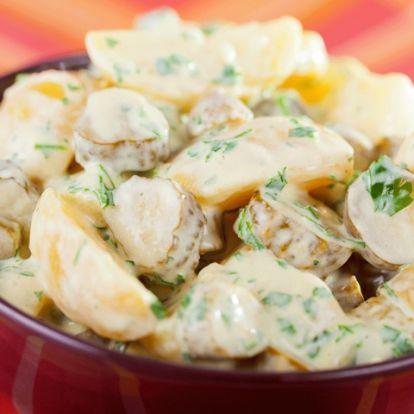 Majonézes krumplisaláta hagyma nélkül: így is nagyon finom lesz