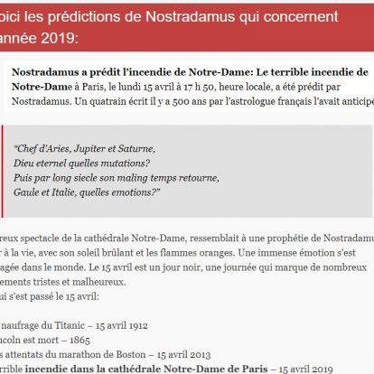 Nostradamus tényleg megjósolta a Notre-Dame leégését?