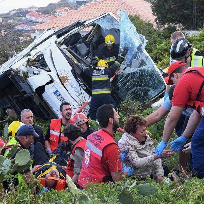 29 turista halt meg egy buszbalesetben Madeirán