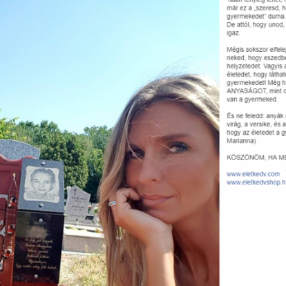 A gyereke sírjával promózza a webshopját a motivációs tréner