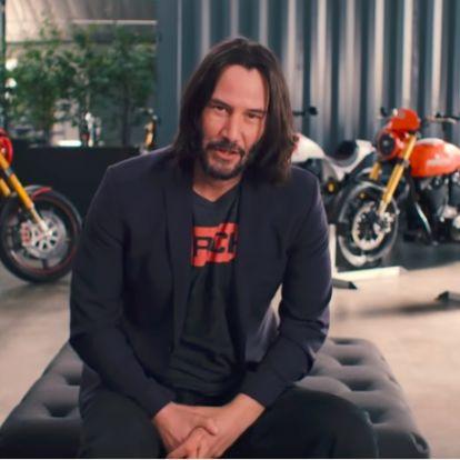 Keanu Reeves garázsában még a Mátrixban használt motor is ott pihen