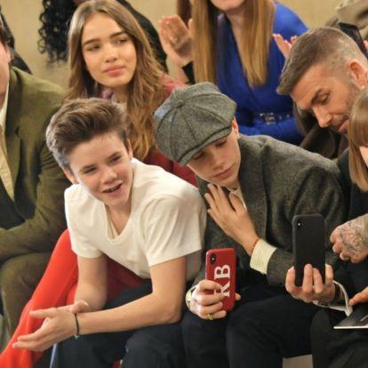 A Beckham-túltengést csak Brooklyn csaja csillapította ezen a családi fotón