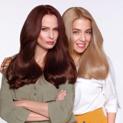 Dobó Kata és Kovács Patrícia egy szépségkampányban | Marie Claire