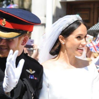 Sosem látott kép került elő Meghan és Harry esküvőjéről
