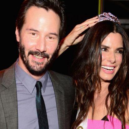 Keanu Reeves és Sandra Bullock nagyon bejöttek egymásnak a Féktelenül forgatásán, de hallgattak róla