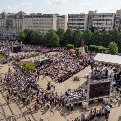 Varga Mihály a református zsinaton mondott kampánybeszédet