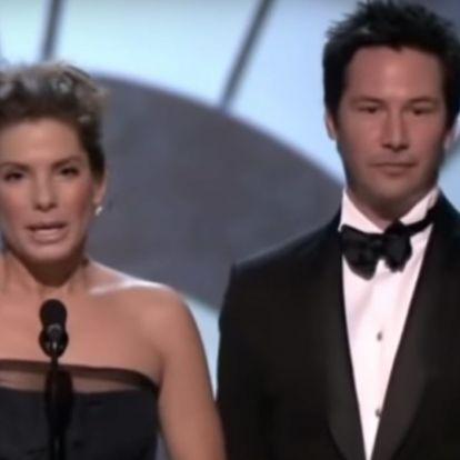 Keanu Reeves és Sandra Bullock titokban nagyon bejöttek egymásnak egy korábbi forgatáson