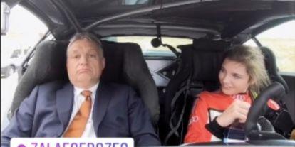 Orbán Viktor olyan gyorsan száguldott, hogy még ő is meglepődött rajta