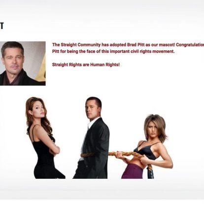 Brad Pitt nem örül, hogy vele reklámozzák a heteró parádét
