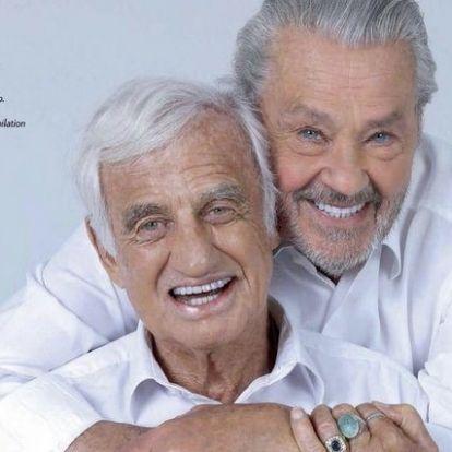 Jó nézni Belmondo és Delon új közös fotóját