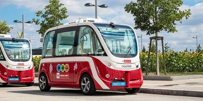 Elektromos önvezető minibuszok Bécsben
