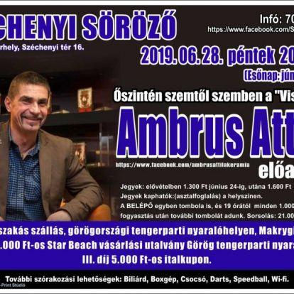 Vásárhelyen tart előadást Ambrus Attila, a Viszkis