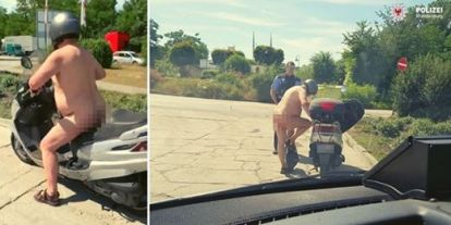 Nem büntették meg a rendőrök a meztelenül motorozó férfit