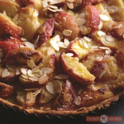 Őszibarackos pite mascarponekrémmel recept - kipróbált fényképes sütemény receptek - Receptvarázs – receptek képekkel