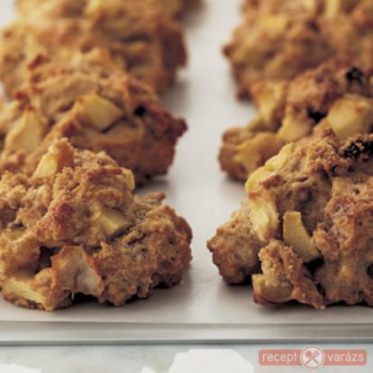 Almás-müzlis keksz - kipróbált fényképes sütemény receptek - Receptvarázs – receptek képekkel
