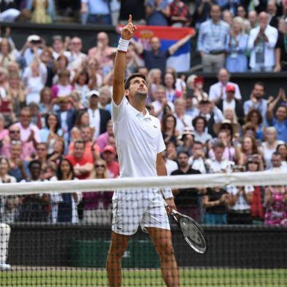 Történelmi őrület Wimbledonban, Novak Djokovics nyerte a döntőt!