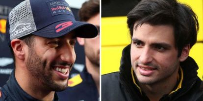 Mutatjuk, ahogy Ricciardo egyszerűen tökön üti Carlos Sainzot