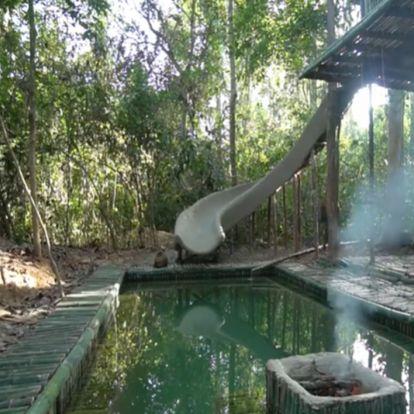 Így építhetsz csúszdás medencét saját kezűleg