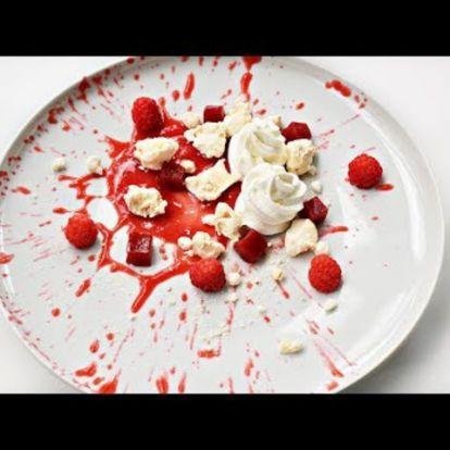 Málnás tányérdesszert (Recept Trailer)