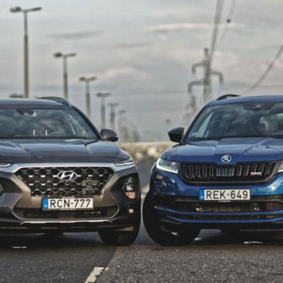 Családi álmok – Hyundai Santa Fe vs. Škoda Kodiaq teszt