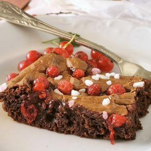 Ribizlis brownie
