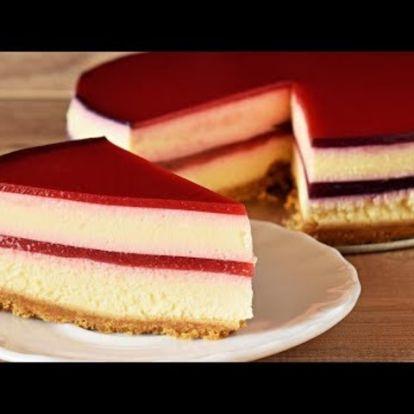 Sütés nélküli Citromos Málna Torta (Recept Trailer)