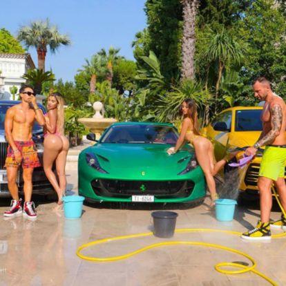Berágott a Ferrari a bikinis lányok miatt