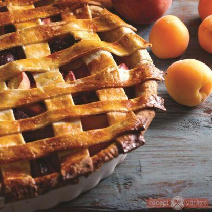 Barackos-szilvás pite recept - kipróbált fényképes sütemény receptek - Receptvarázs – receptek képekkel