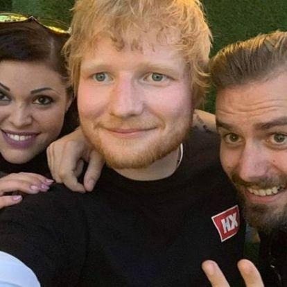 Vannak, akiknek tényleg sikerült a közös szelfi Ed Sheerannel