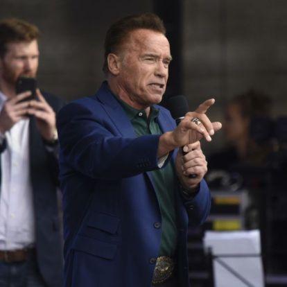 Schwarzenegger keményen gyúrt már három nappal azután, hogy valaki lábbal beleszállt a hátába