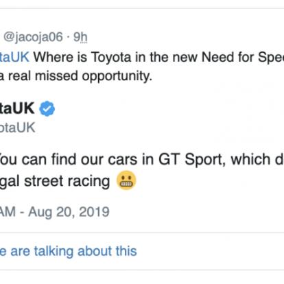 [GC 2019] A Toyota beszólt a Need for Speed Heatnek: Ezért nem lesznek benne a cég autói a játékban