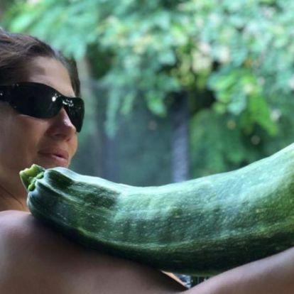 Horváth Éva ijesztő méretű zöldséget termesztett a kertjében