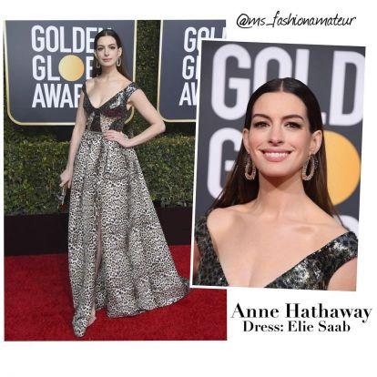 Anne Hathaway   Golden Globes 2019 . . . …