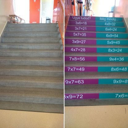 Ebbe a suliba mi is járnánk! - Lelkes szülők dekorálták ki egy szolnoki iskola lépcsőit, hogy így segítsék a diákokat