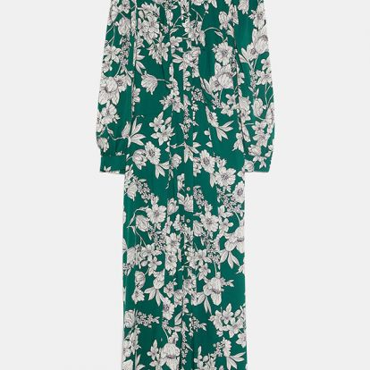 Amanda Holden just wore the most stunning green floral dress from Zara