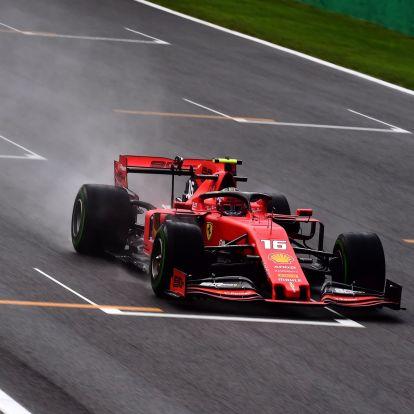 F1: Leclerc az élen a McLarenek előtt az esős monzai nyitóedzésen