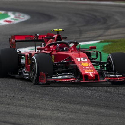 F1: Tragikomédiába illő végjáték után Leclerc-pole Olaszországban