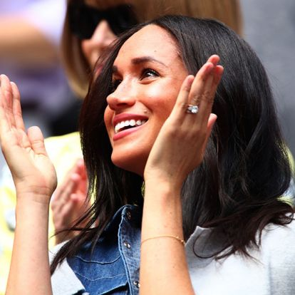 Meghan's £100 gold necklace was a sweet tribute to Prince Harry and baby Archie
