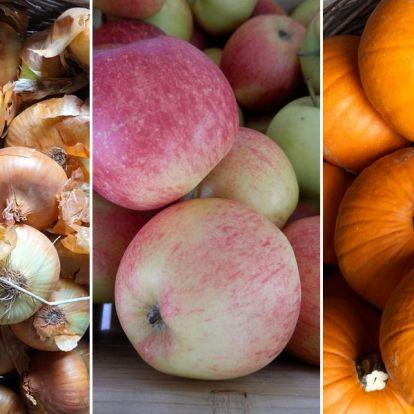 Ősszel érő gyümölcsök és zöldségek ügyes tárolása