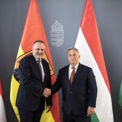 Burgenland vezetőjét fogadta Orbán Viktor