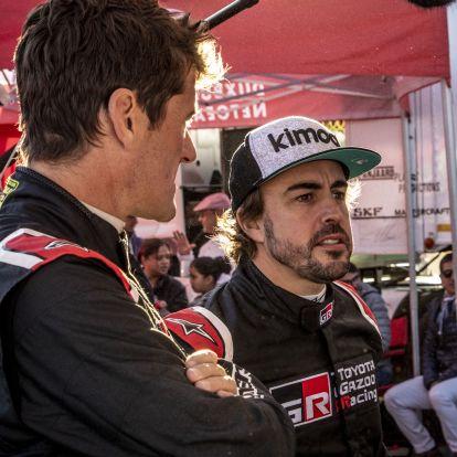 Alonso első tereprali-versenyén felborult
