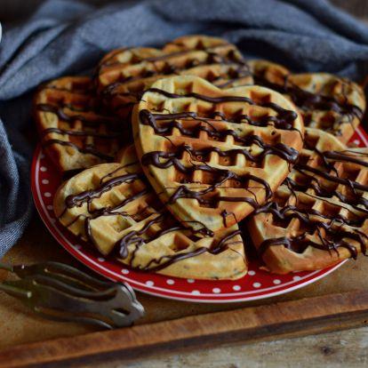 Csokis-banános gofri bögrésen