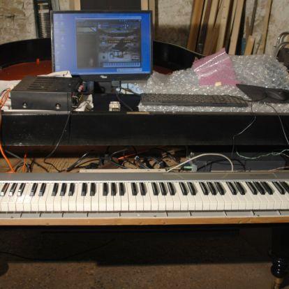 Zongoraépítés: Billentyűzet beépítése