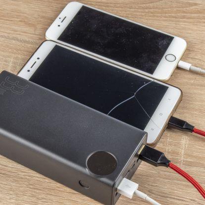 20 Ah-s Xiaomi és 30 Ah-s Baseus powerbankok tesztje