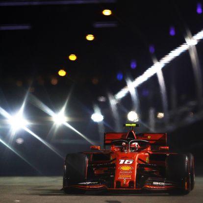 F1: Váratlan Ferrari-pole Szingapúrban