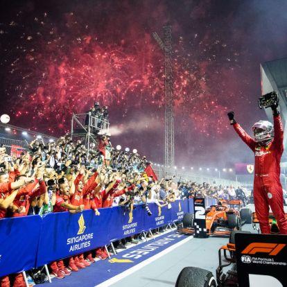 Vettel egy év után nyert ismét futamot!