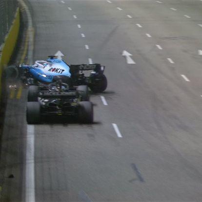 F1: Grosjeant hibáztatja az ütközésért Russell