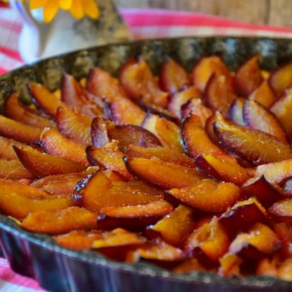 A hónap receptje: a luxemburgi Quetschentaart (őszi sziláslepény)